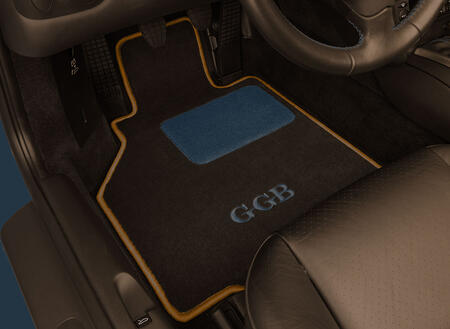 Custom Car Mats Orange and Blue